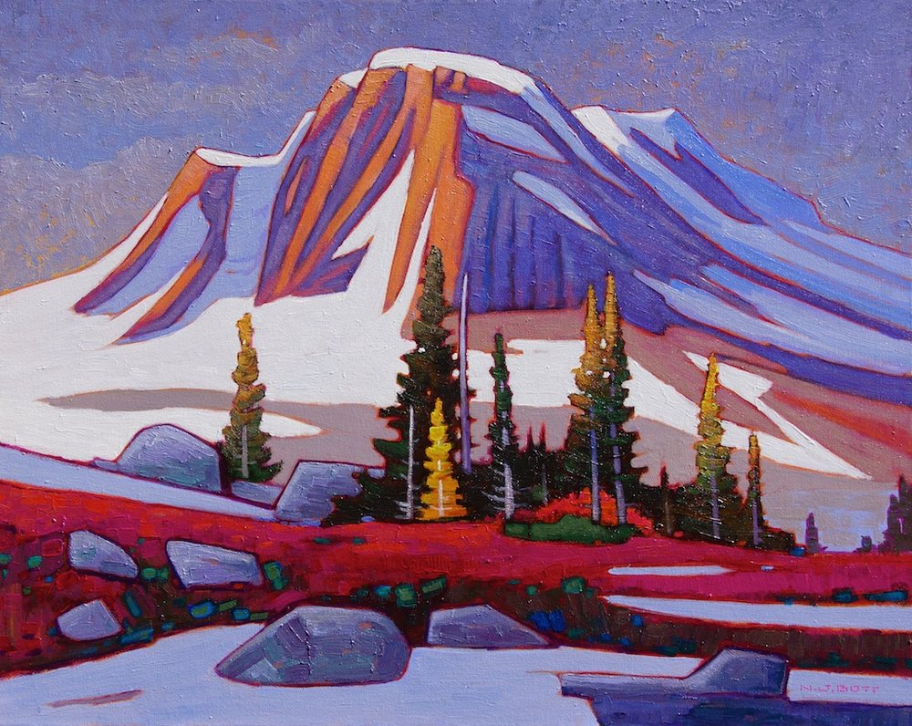 American Peak, N.W. BC<Br>24 x 30<Br>Acrylic on Canvas<Br>$3,975 (framed)