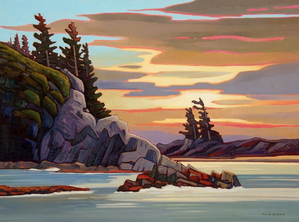 West Coast Sunset 36 x 48 Oil on Canvas SOLD