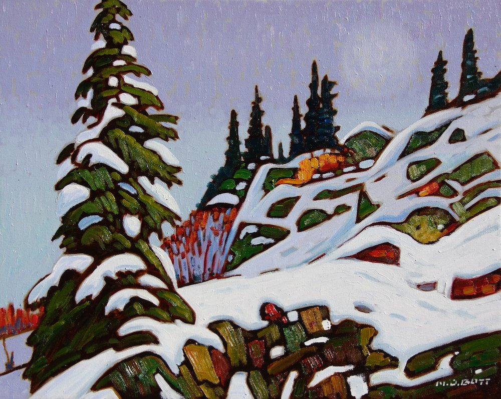 Near Revelstoke<Br>16 x 20<Br>Oil on Canvas<Br>$ 2400 (framed)