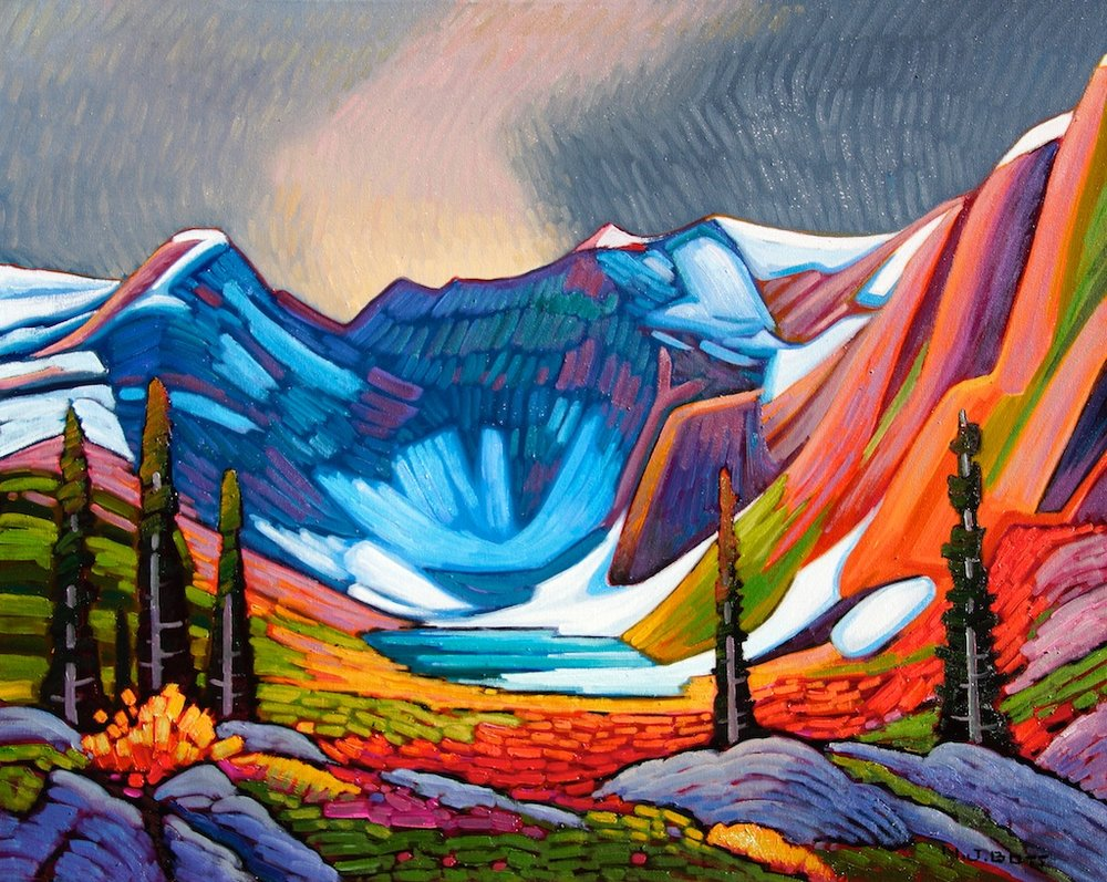 Mountain Nightfall 24 x 30 Oil on canvas SOLD