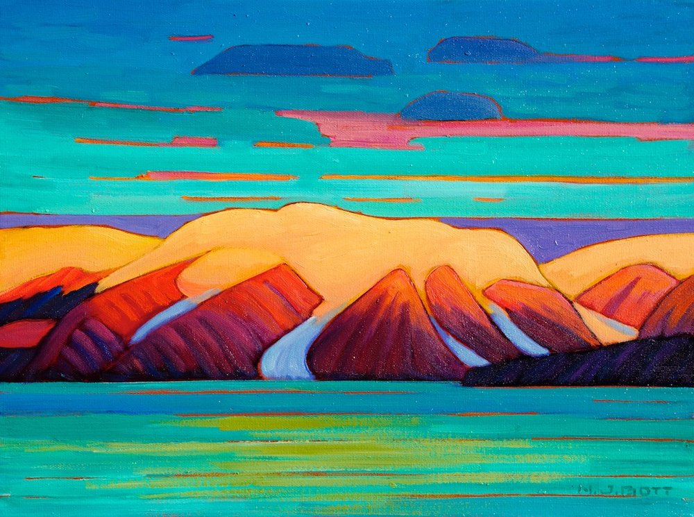 Baffin Island Sunrise 12 x 16 Oil on Canvas SOLD