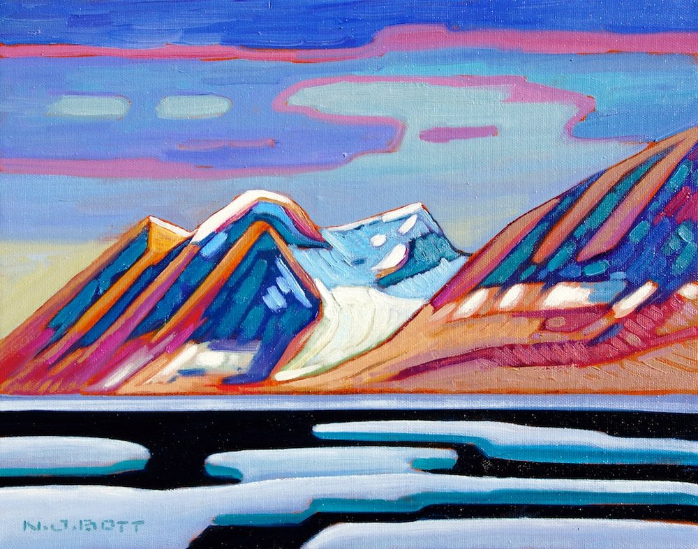 Drifting Sea Ice 11 x 14 Oil on Canvas SOLD