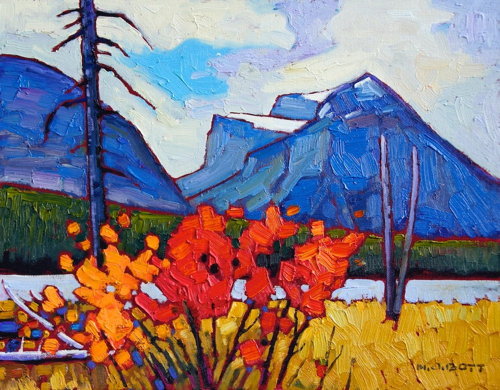 Rocky Mountain Hues 11 x 14 Oil on Board SOLD