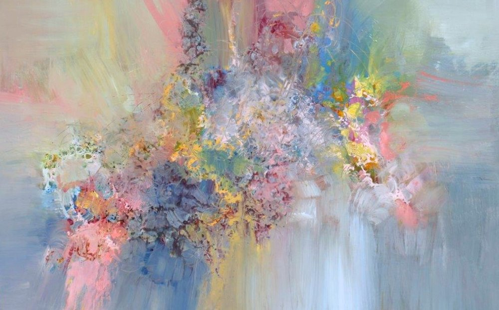 Beethoven Symphony No. 1 C Major Op 21<Br>38 x 60<Br>Acrylic on Canvas<Br>$ 4,900