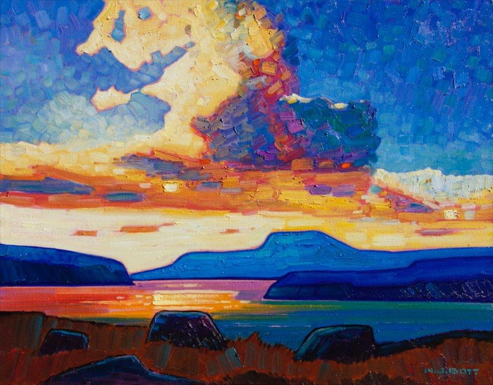 B.C. Coast Sunset<br>22 x 28<br>Oil on Canvas<br> $ 3850