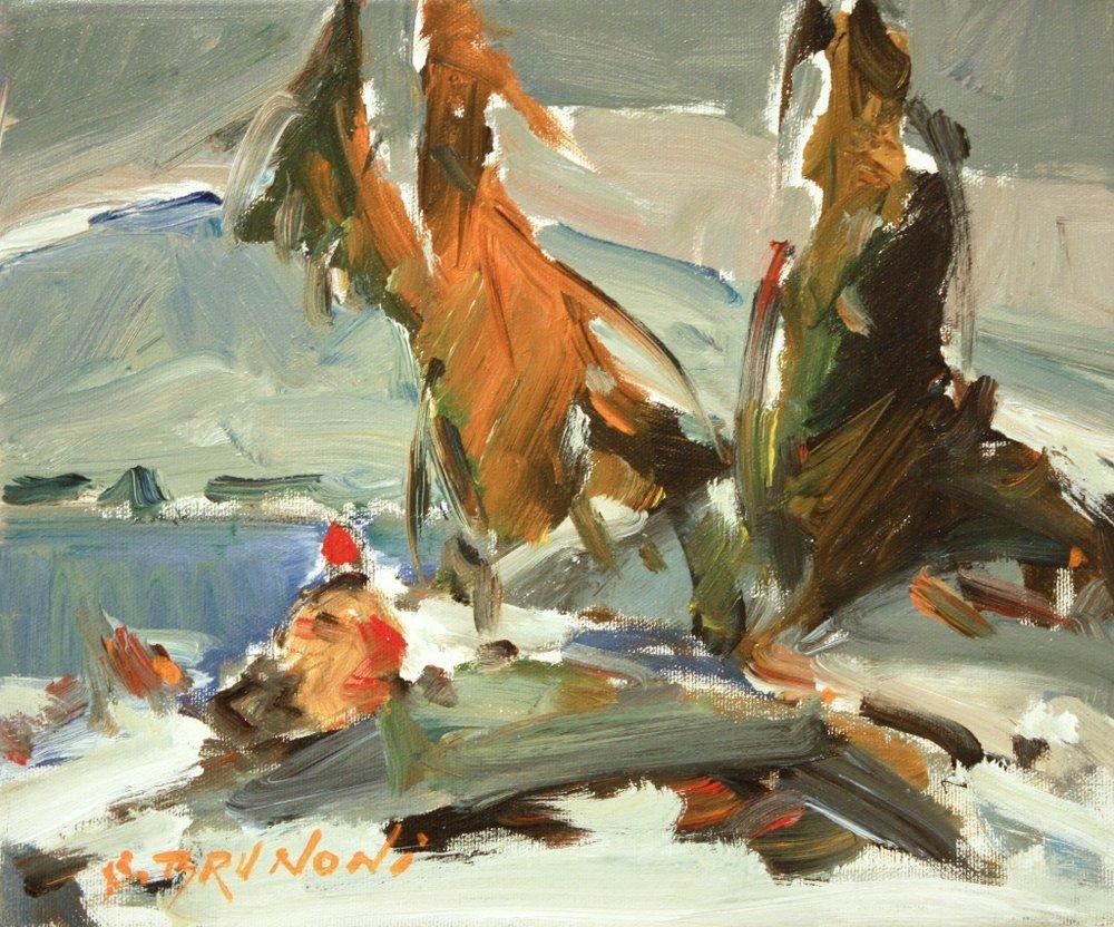 Je T'Attenderais<Br>10x12<Br>Oil on Canvas<Br>$ 1100