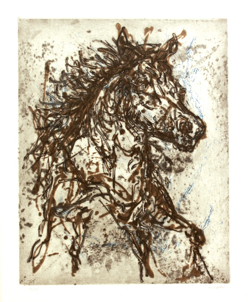 Jean Paul Riopelle<br>Le Cheval<br>19.5 x 15.5<br>Etching 61/75