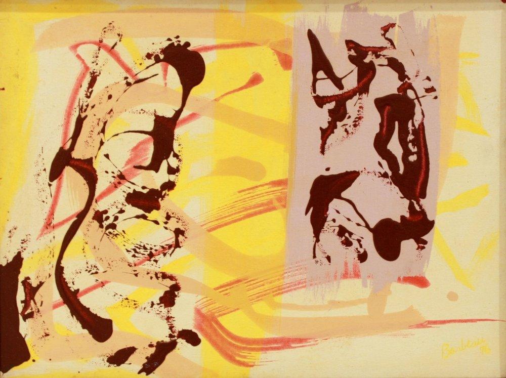 Marcel Barbeau<br>Untitled<br>12 x 16<br>Oil on Board<br>1976