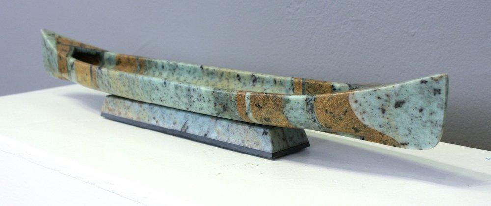 Canoe V  20 x 2.5 x 3  Soapstone and Pyrophyllite  SOLD