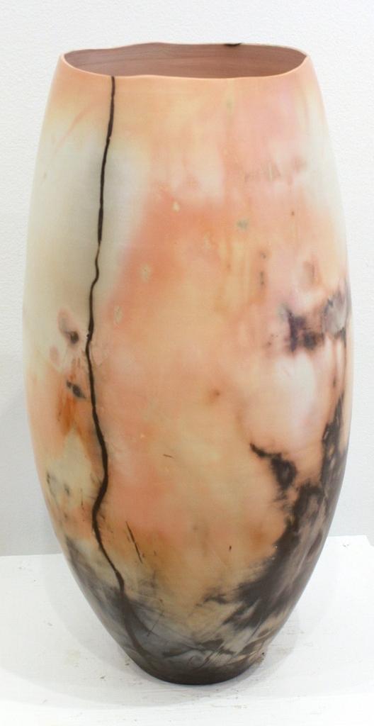 Vessel #26<Br>17 x 7 x 7<Br>Saggar-Fired Ceramic<Br>$ 1550