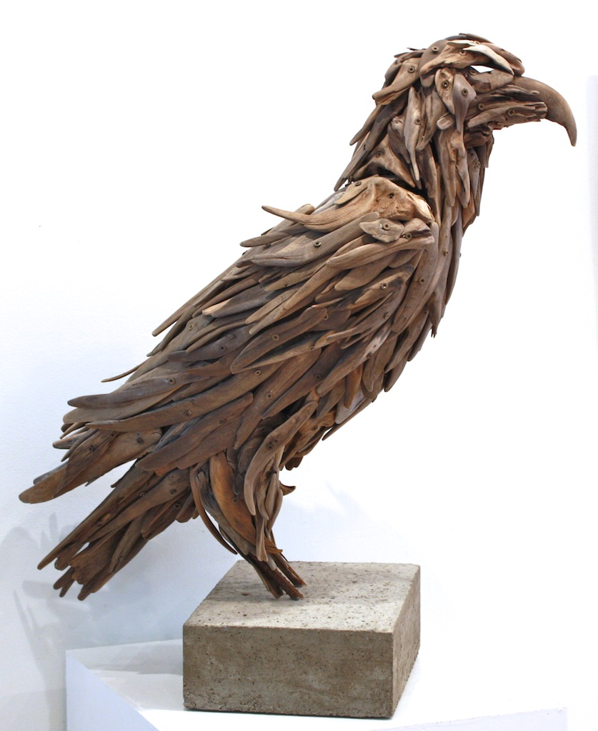 Stoic (Eagle)  29.5 x 24 x 12  Wood, Iron, Concrete  SOLD