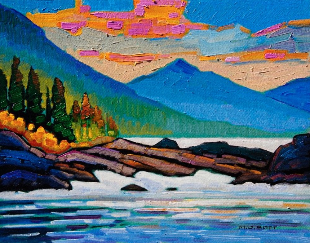 Coast Line<Br>11 x 14<Br>Oil on Canvas<Br>$ 1550