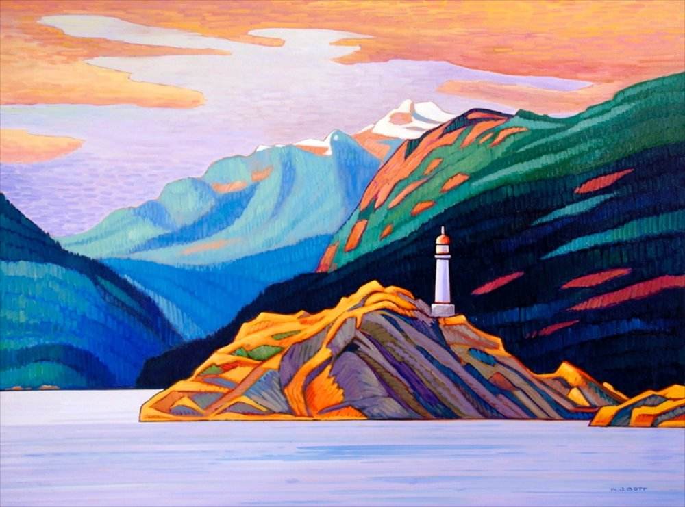 Beacon, Howe Sound II<Br>36 x 48<Br>Oil on Canvas<Br>SOLD