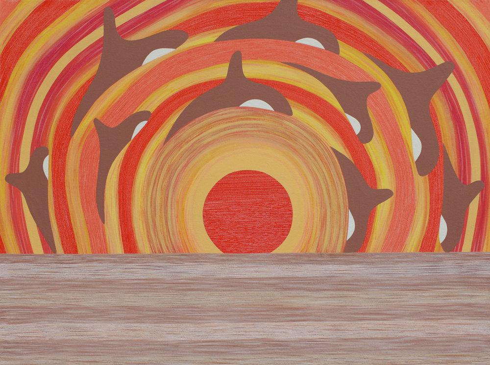 Sun Swim<Br>30 x 40<Br>Acrylic on Canvas<Br>$ 2750