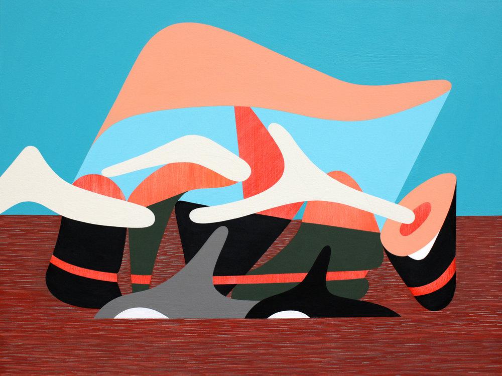 Inspection<Br>36 x 48<Br>Acrylic on Canvas<Br>$3200