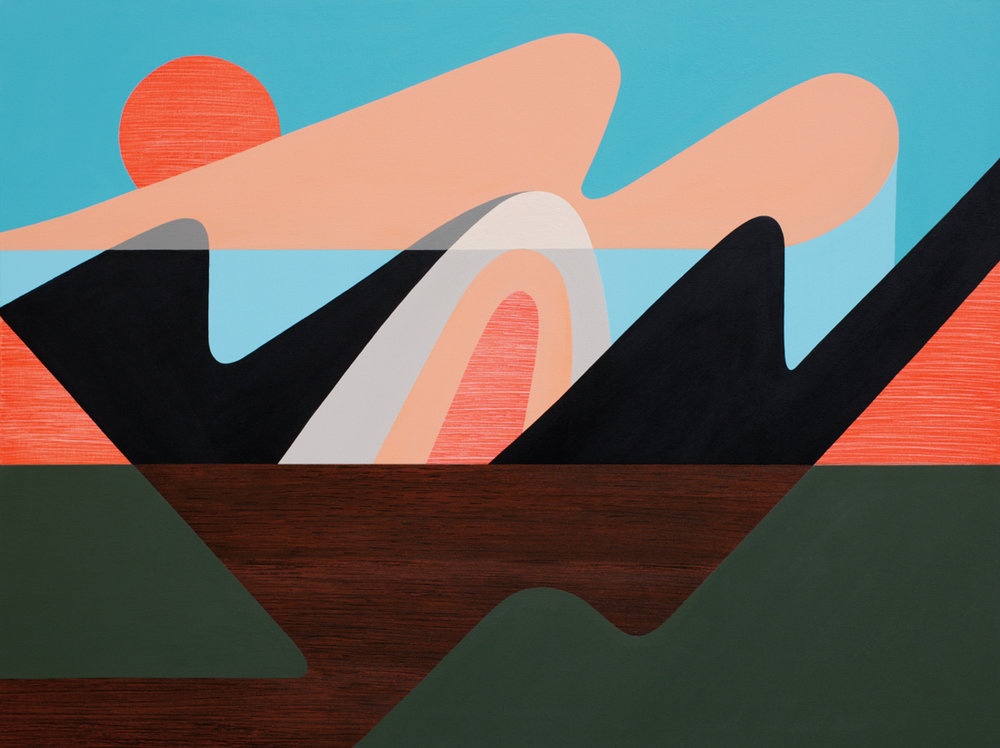 Mineral Mountain One<Br>36 x 48<Br>Acrylic on Canvas<Br>SOLD