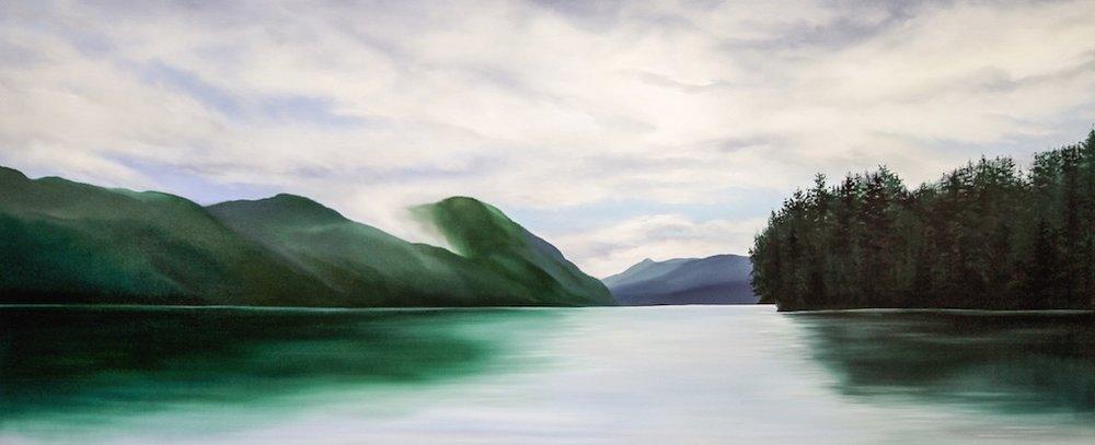 Silence<Br>30 x 72<Br>Oil on Canvas<Br>$ 4,500