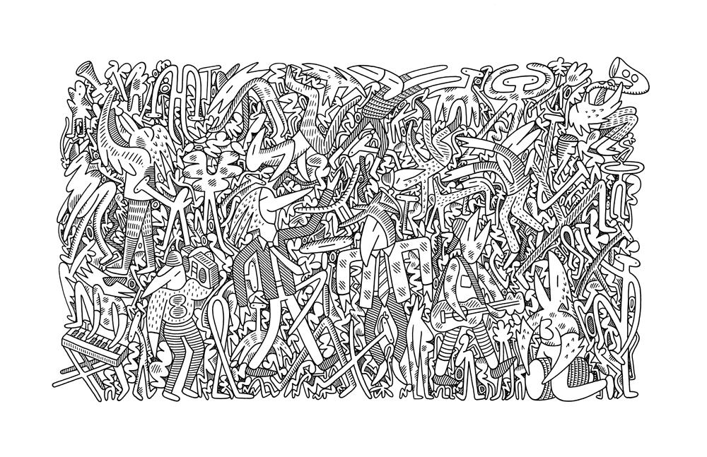 Dancers<Br>11 x 17<Br>Ink on Paper<Br>SOLD