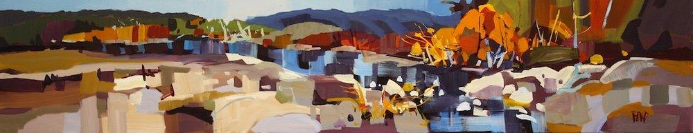 Stillwater Blue<Br>12 x 60<Br>Acrylic on Canvas<Br>$ 2975