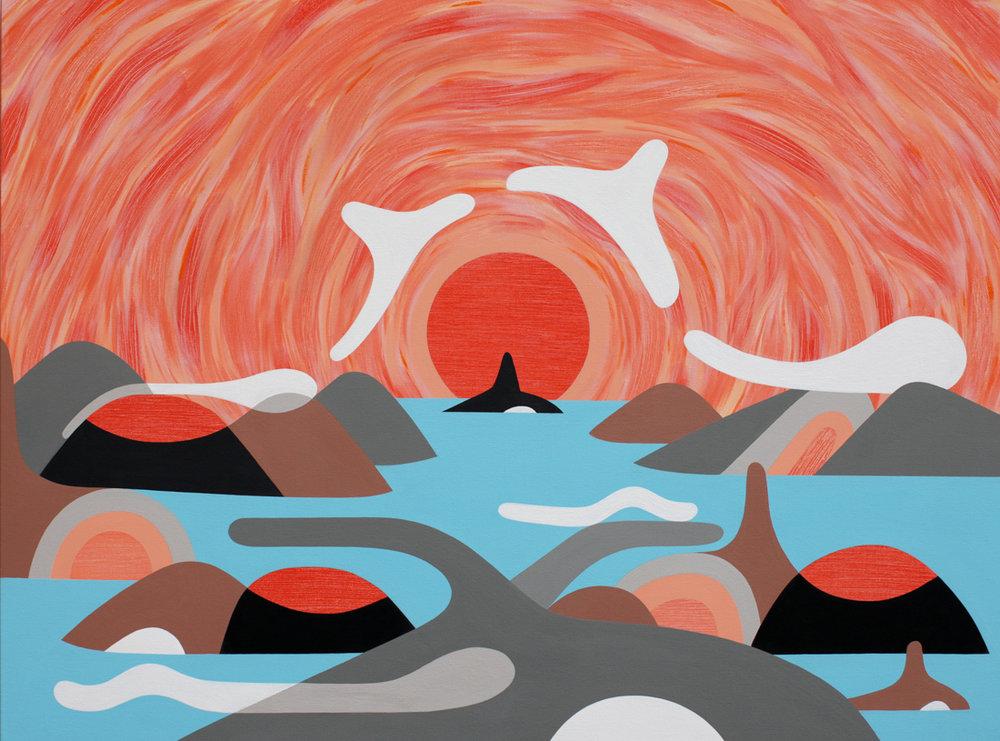 Center Peace<Br>36 x 48<Br>Acrylic on Canvas<Br>$ 3200