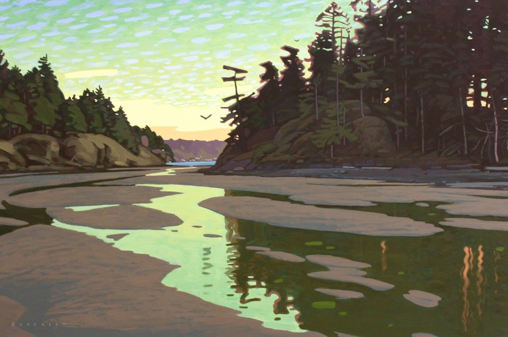 Clayton Anderson<Br>Dusk in Summer Run Cove<Br>Acrylic on Canvas<Br>$ 5000