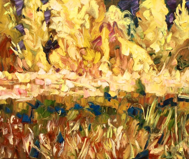 Halin de Repentigny<Br>Yellow Street<Br>20 x 24<Br>Oil on Canvas<Br>$ 2200