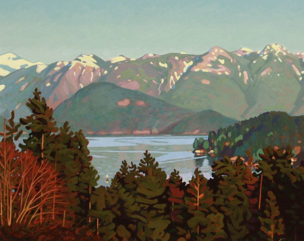Howe Sound from Gospel Rock 16 x 20 Acrylic on Board SOLD