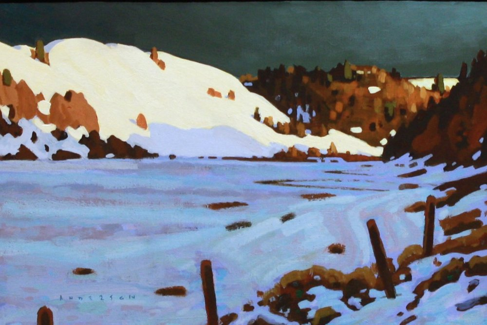 October Snow 8 x 12 Acrylic on Board SOLD