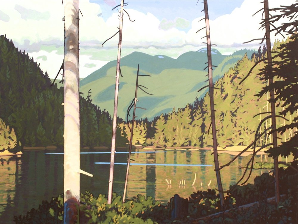 Mosquito Lake 30 x 40 Acrylic on Canvas SOLD