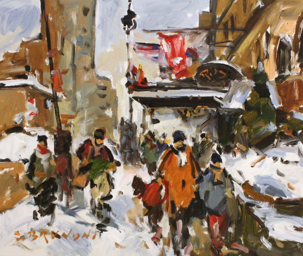 Montreal, The Ritz Carlton<Br>20 x 24<Br>Oil on Canvas<Br>$ 2,525