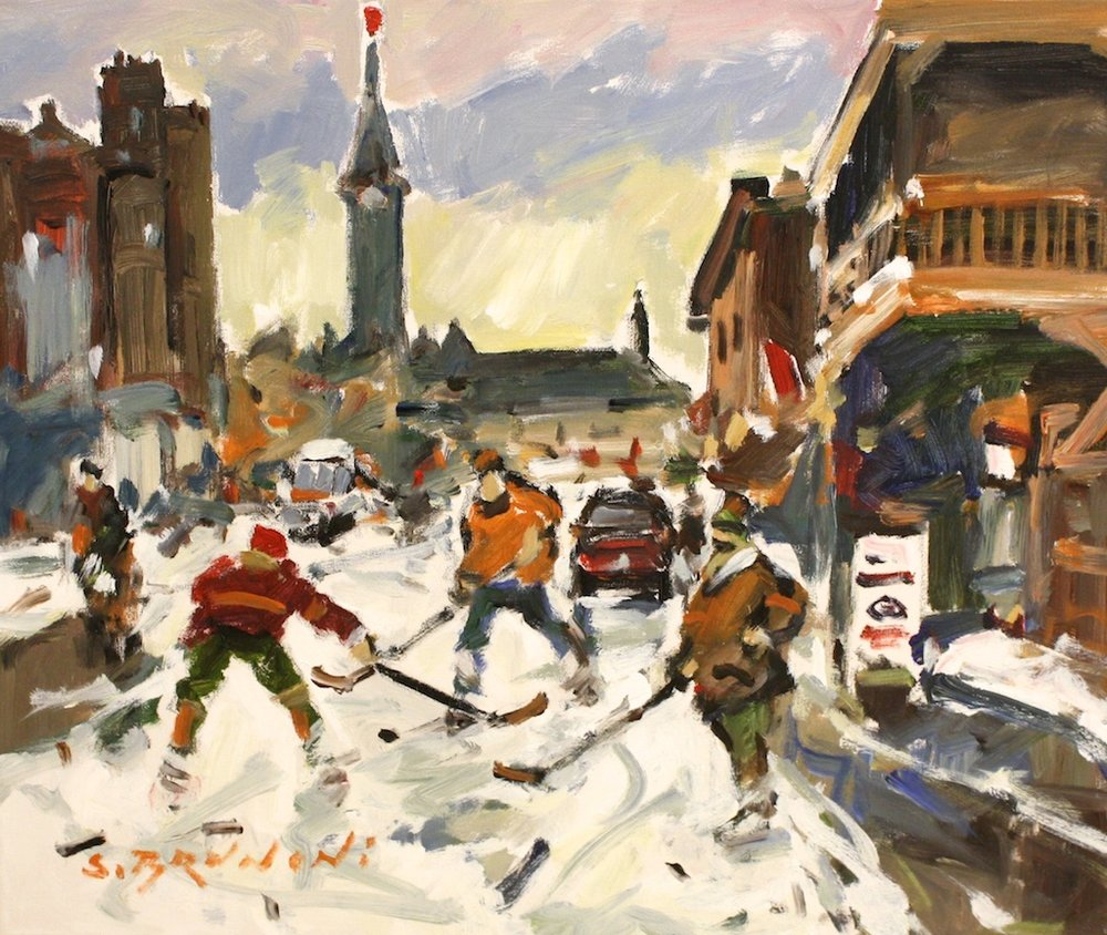 Ottawa, Le Parlement<Br>20 x 24<Br>Oil on Canvas<Br>$ 2,525
