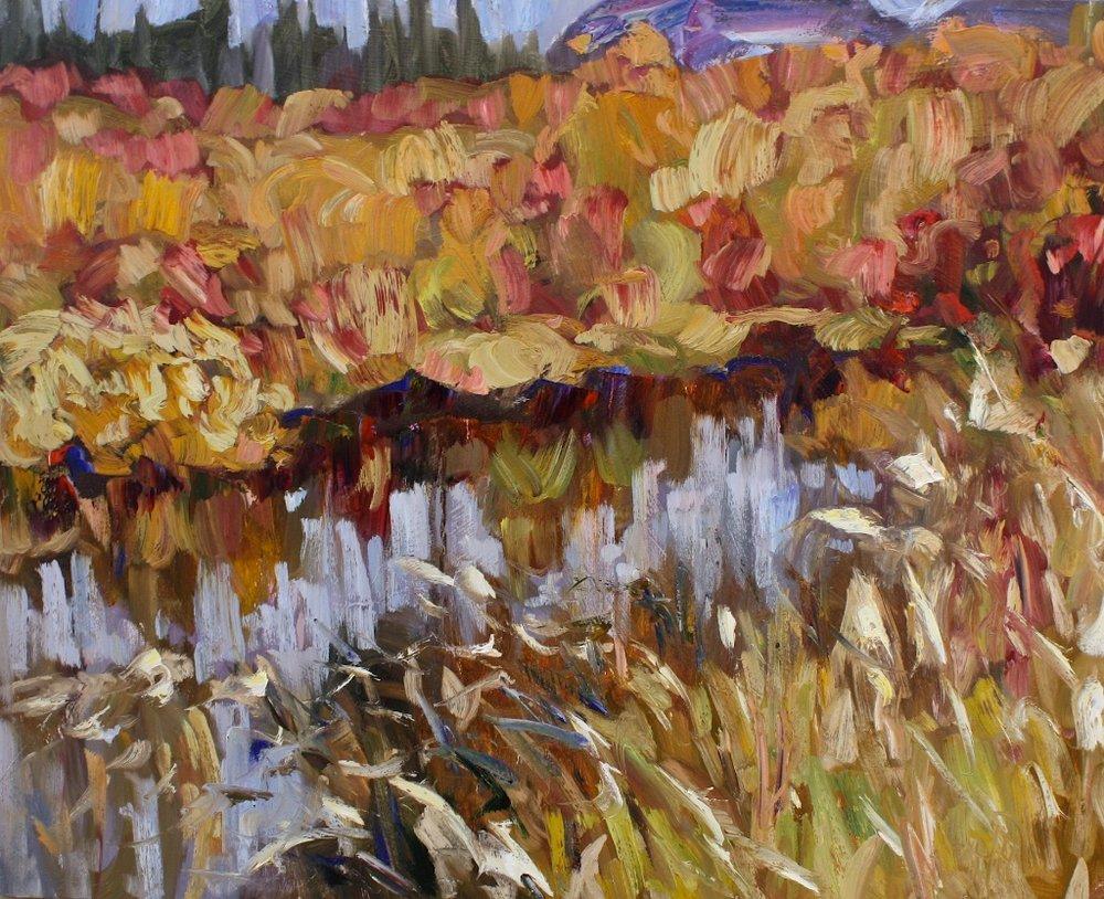 Ochre Flooding<Br>24 x 30<Br>Oil on Canvas<Br>$ 2975