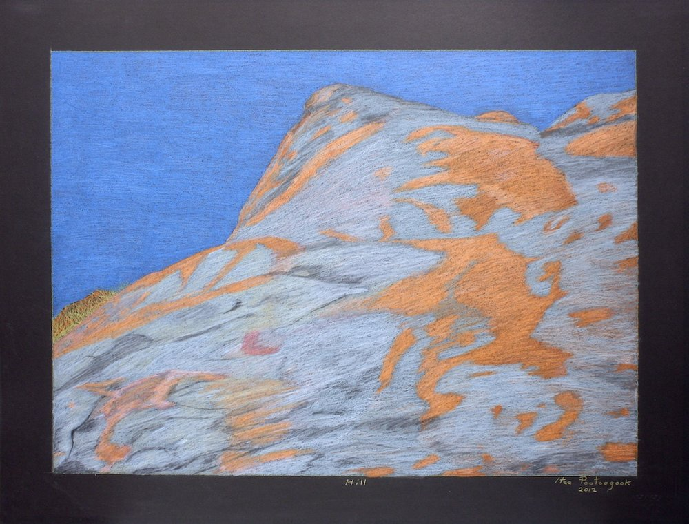 Hill (152-0576)<br>20 x 26<br>Graphite, Colour Pencil and Ink<br>$ 1900 (Framed)