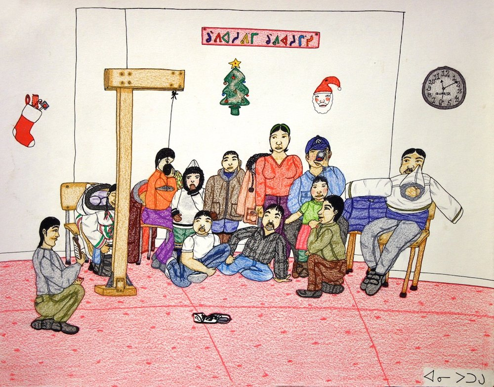 Christmas (177-246)<br>16 x 20<br>Graphite, Colour Pencil and Ink<br>$ 2250