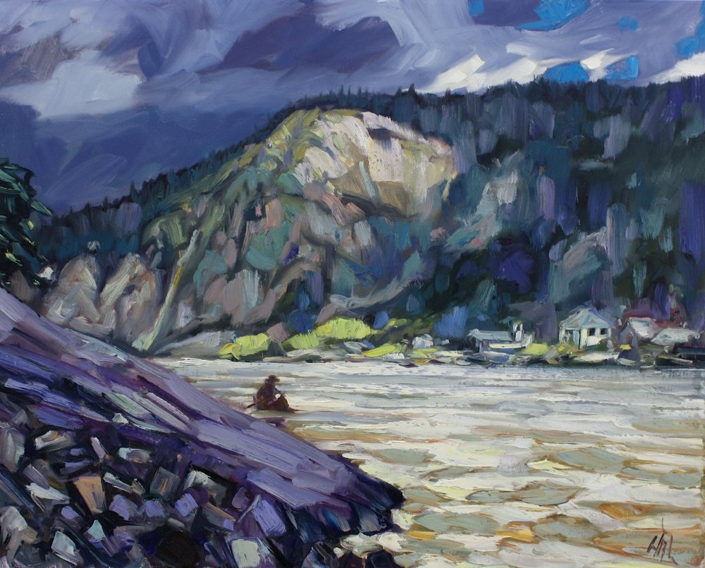 Halin de Repentigny<Br>Dawson Slide<Br>24 x 30<Br>Oil on Canvas<Br>$ 2975