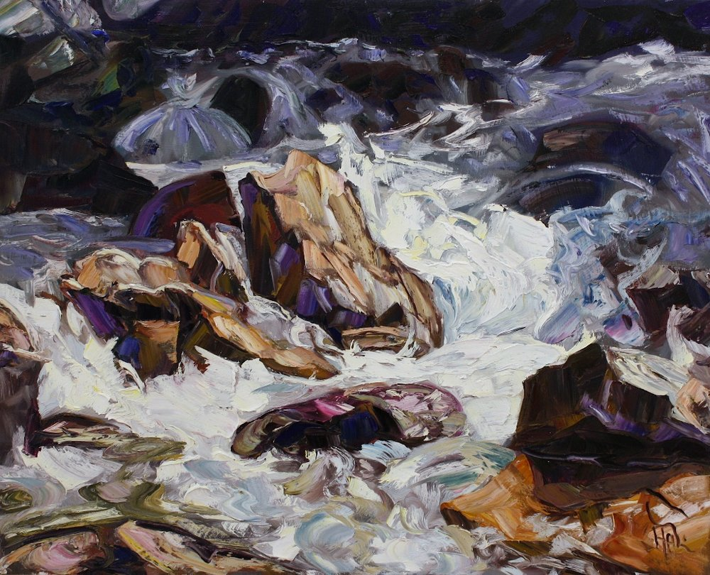 Halin de Repentigny<Br>Boiling Creek<Br>24 x 30<Br>Oil on Canvas<Br>$ 2975