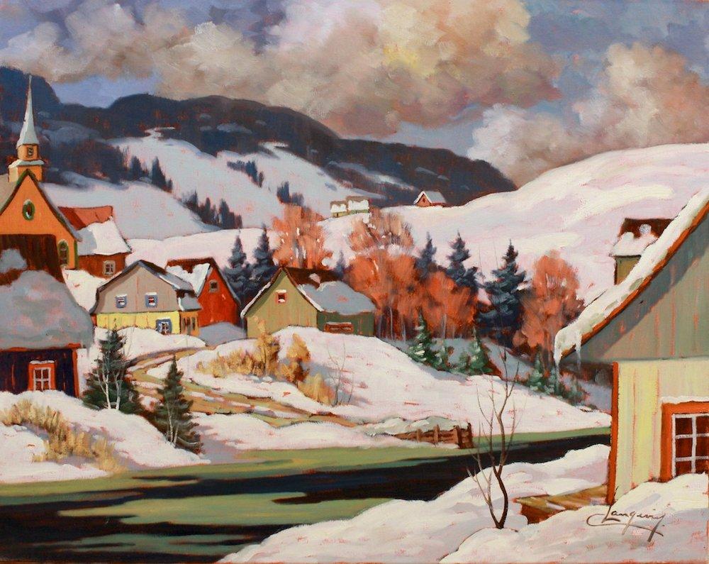 Journée de Fevrier, 24 x 30, oil on canvas