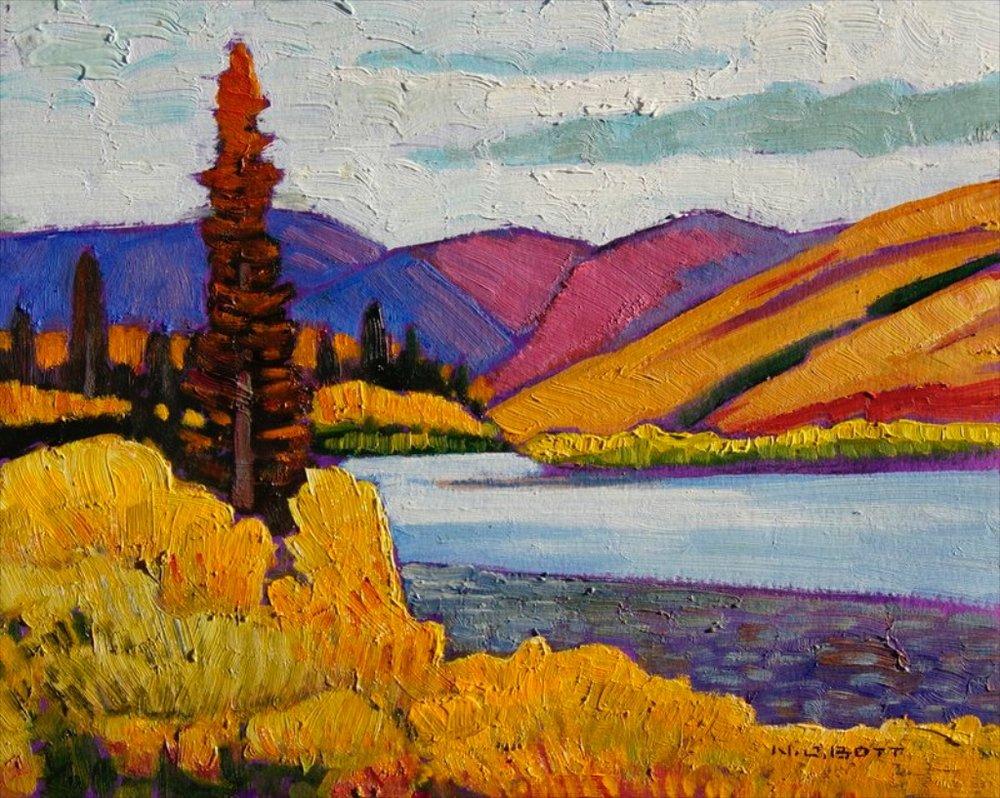 Northern River<Br>Nicholas Bott<Br>8 x 10<Br>Oil on Board<br>SOLD