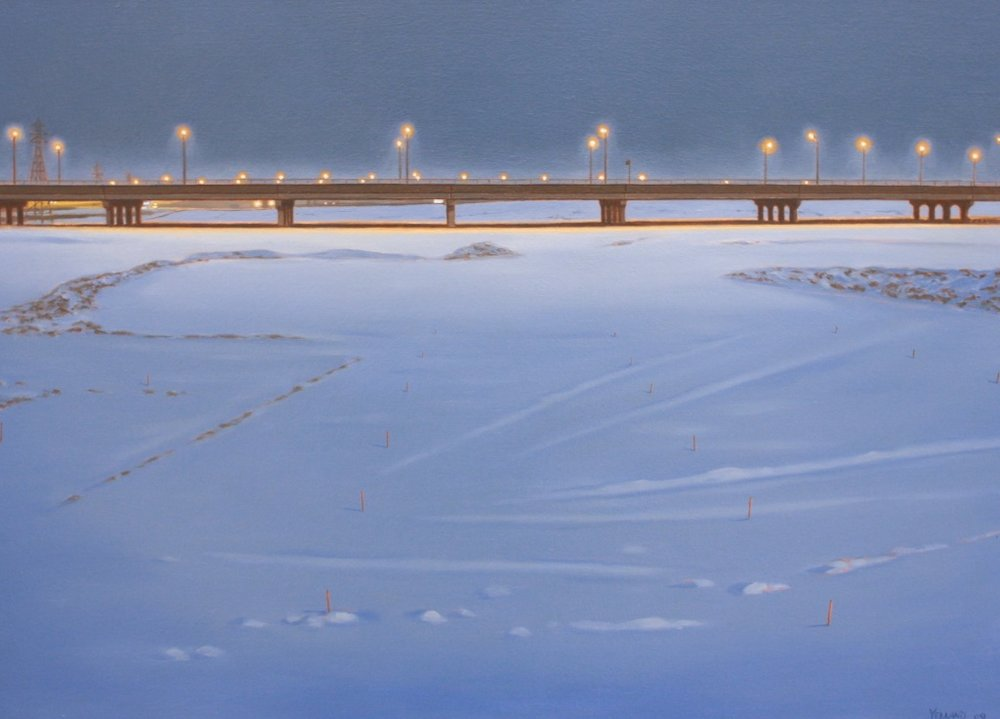 Blue Gardiner<Br>Sean Yelland<Br>24 x 34<Br>Oil on Canvas<Br>