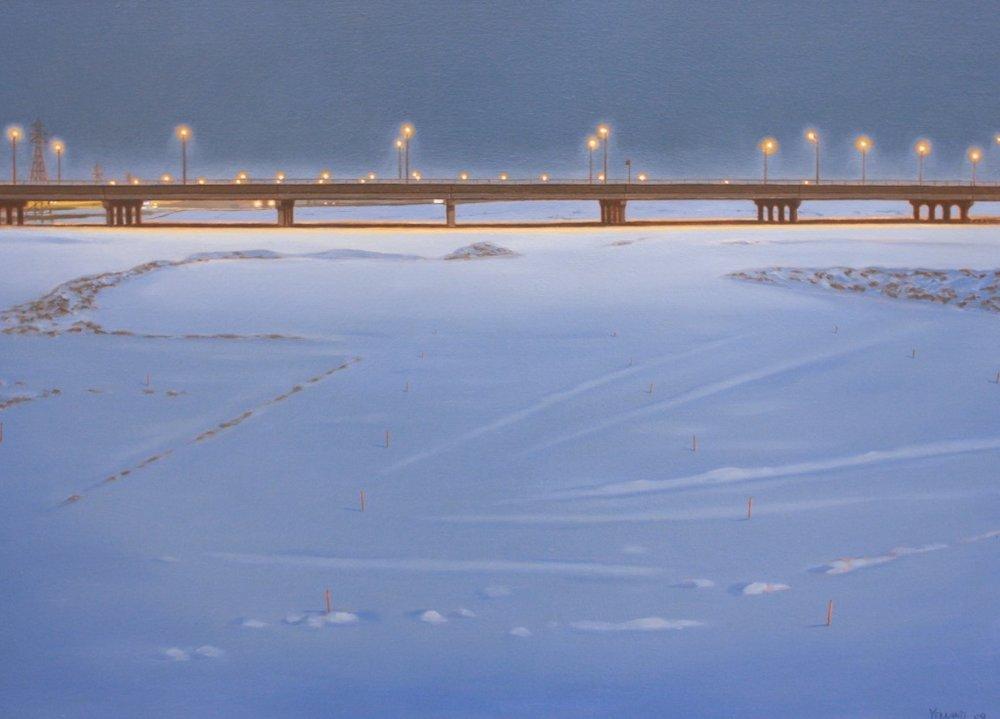 Blue Gardiner<Br>Sean Yelland<Br>24 x 34<Br>Oil on Canvas<Br>