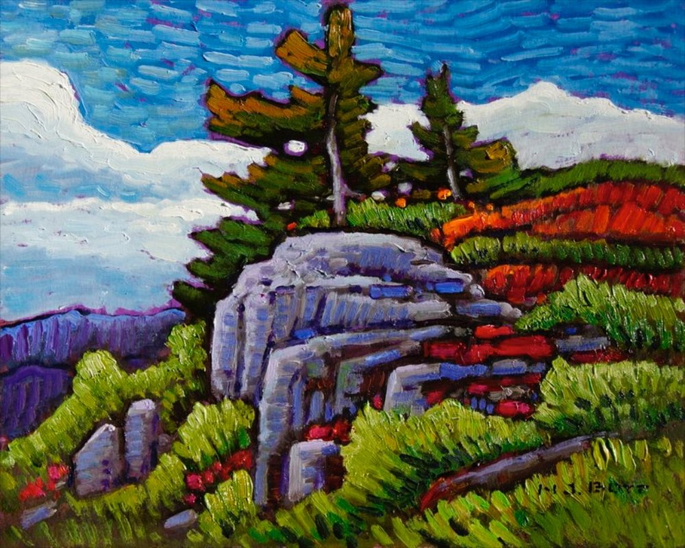 At the Summit <br> Nicholas Bott> 8 x 10 <br> Oil on Board