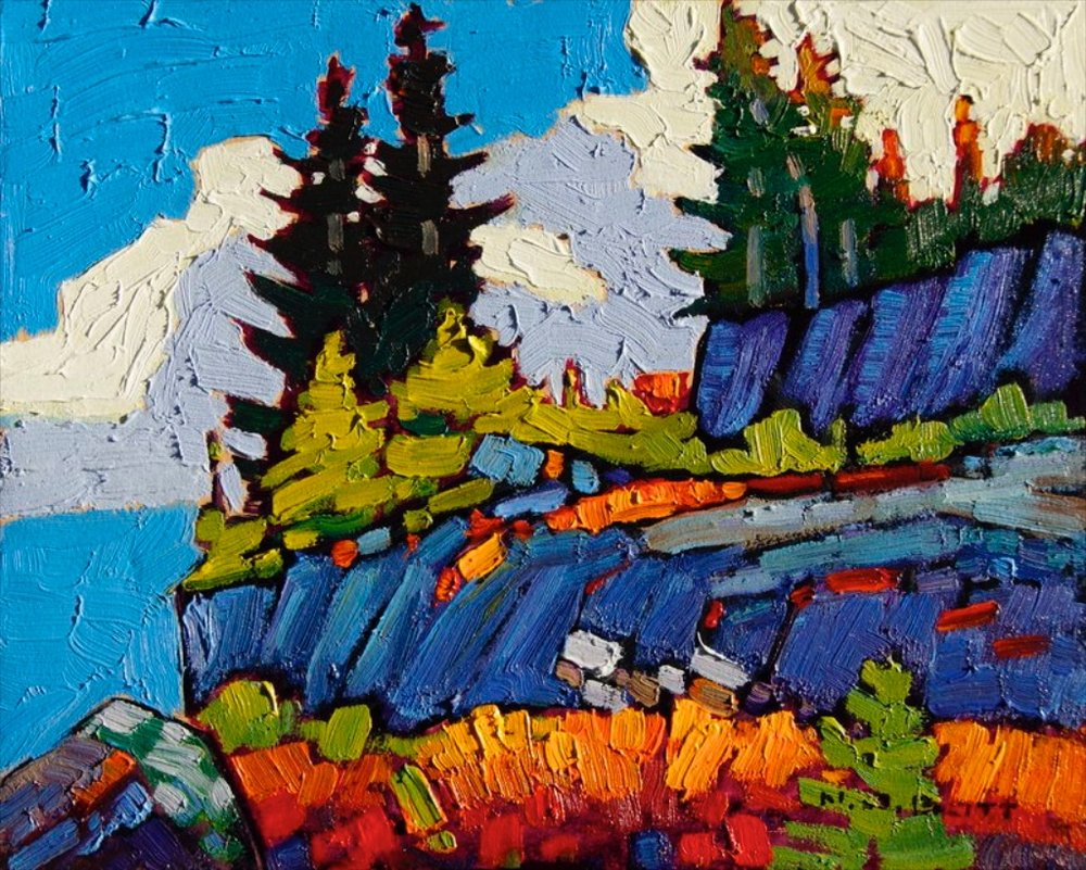 Rocky Hill <br> Nicholas Bott <br> 30 x 40 <br> Oil on Board