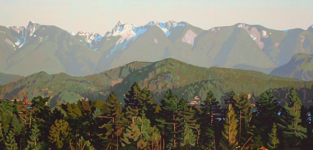 Coastal Range <br> Clayton Anderson <br> 24 x 48 <br> Acrylic on Board