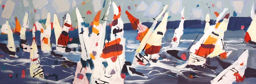 Regatta Weekend <br> Rick Bond <br> 12 x 36