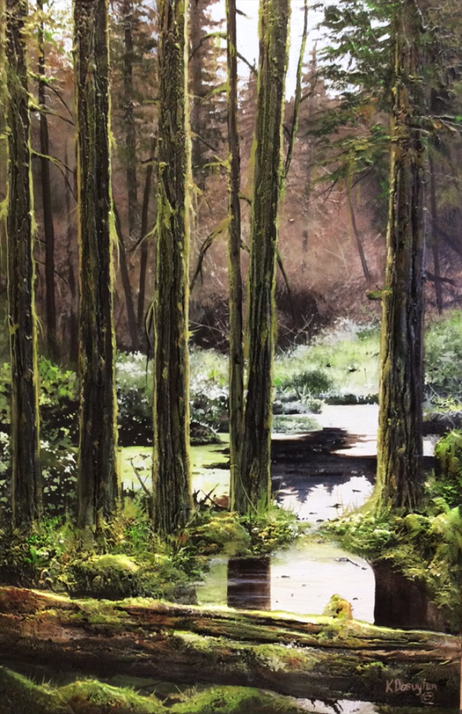 Hush <br> Karel Doruyter <br> 36 x 24 <br> Acrylic on Cavas