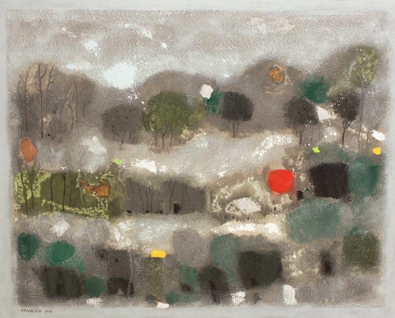 Icy Roads <br> Hashim Hannoon <br> 24 x 30 <br> Acrylic on Canvas