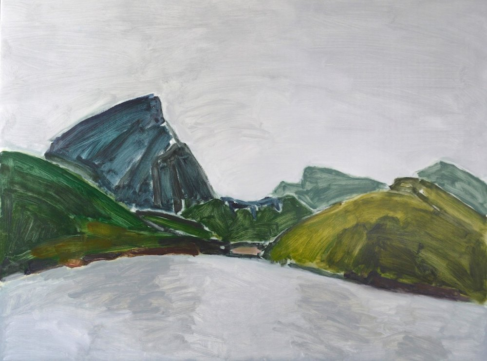 Village Bay, Mayne Island <br> Barry Hodgson <br> 30 x 40 <br> Oil on Panel