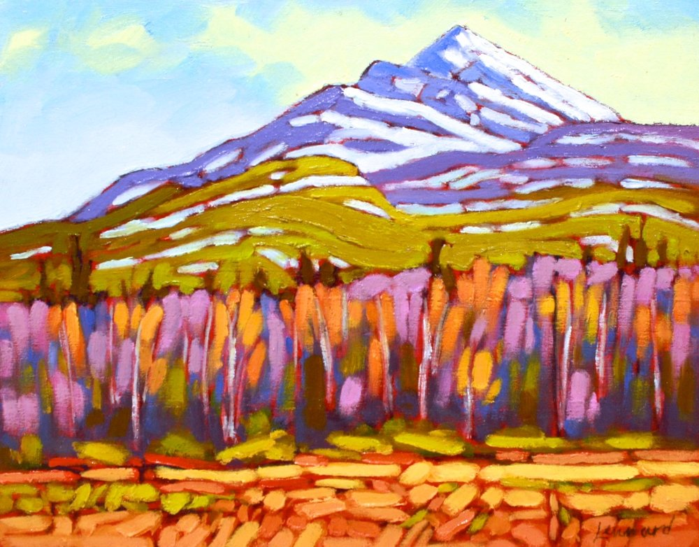 Foothills <br> John Lennard <br> 8 x 10 <br> Oil on Board