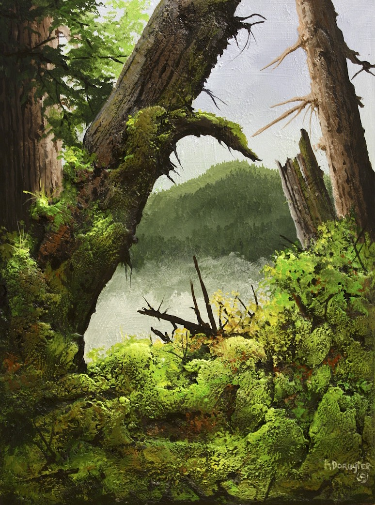 Moss Masquerade <br> Karel Doruyter <br> 24 x 18 <br> Acrylic on Canvas<Br>SOLD