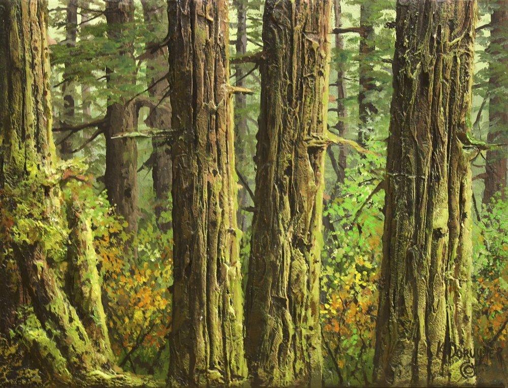Refuge <br> Karel Doruyter <br> 18 x 24 <br> Acrylic on Canvas